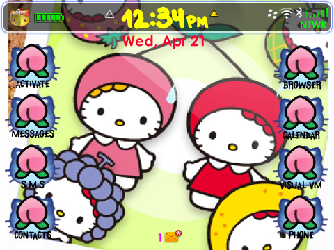 <b>Fruity Kitty BlackBerry Theme for the 9780 OS6.0</b>