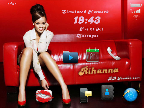 FREE Rihanna for blackberry 90xx os5.0 themes