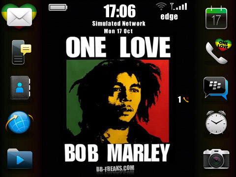 OneLove Bob Marley os6 icons for bb 9000 theme os