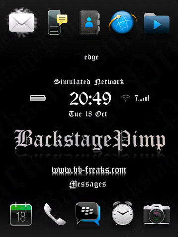 FREE BackStagePimp for blackberry torch 9800 them