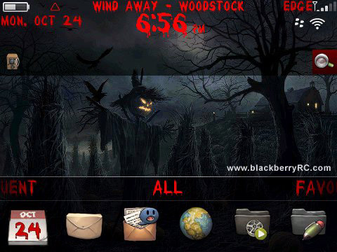 Free Halloween theme for blackberry 9650,97xx os6