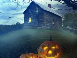 haunted house blackberry curve wallpapers