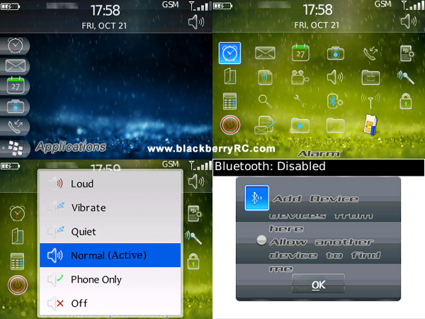 Rain Drops Themes for BlackBerry 8310 and BB 8320