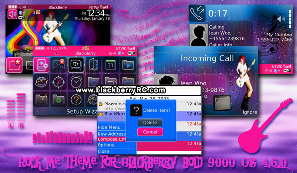 Beautiful Rock theme for blackberry bold os4.6 mo