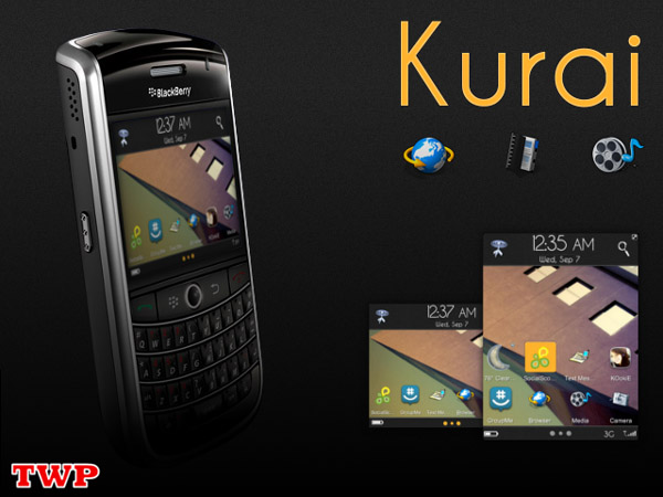 <b>Kurai v1.0 for blackberry themes</b>