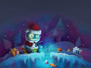 christmas Illustration 480x360 wallpaper