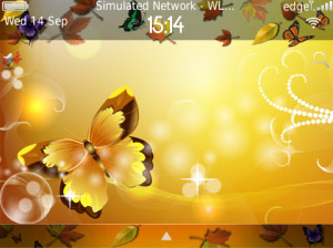 Autumn WARM and LOVE for blackberry os5.os6 theme