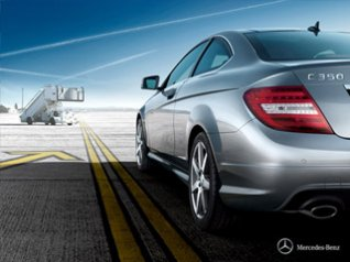 Benz C350 C-Class Coupe for bb 9700 wallpaper