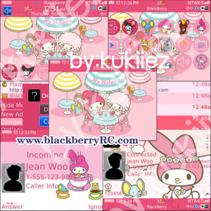 My Melody (マイメロディ) pink theme for bb