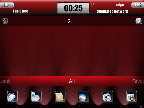 <b>Red Carbon OS7 for blackberry os7.0 themes</b>