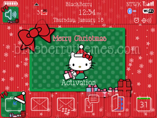 Hello Kitty Merry Xmas for blackberry 85xx themes