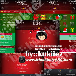 Cute Merry Christmas for blackberry 9700,9780 the