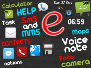 Free Evolution v1.0.2 for blackberry os5.0+ theme