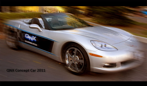 <b>QNX Concept Car 2011 - Wallpaper for BlackBerry P</b>