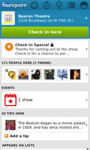 Foursquare v3.5.1 for os5.0 apps
