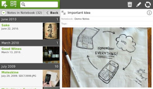 Evernote v1.2.0 for BlackBerry PlayBook apps