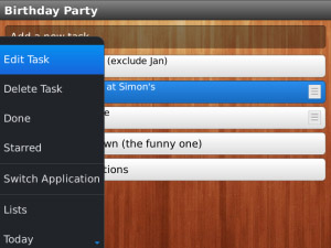 Wunderlist v1.0.2 for blackberry 9900 apps