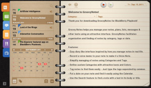 Groovy Notes v1.1.3 for BlackBerry PlayBook Apps