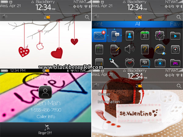 Simple Valentine's Day for blackberry 9700, 9780