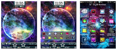free Glitter Universe for blackberry 9800 themes