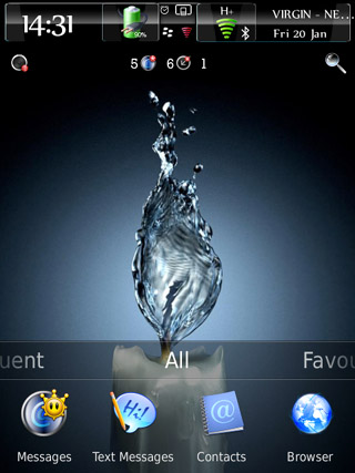 Conceptual v1.0 for blackberry torch 2 9810 theme