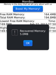 MemBoo v3.03 for blackberry os5.0 apps