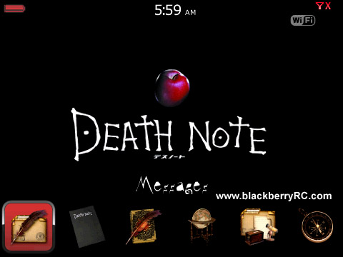 <b>Death Note Bottom Dock for bb curve 8900 themes o</b>