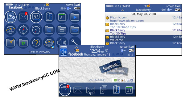 Joulely Facebook theme for BB bold 9000 themes