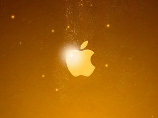 Golden Apple Logo blackberry wallpaper