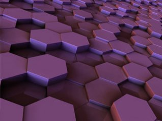 3D Hexagon for blackberry bold 9900 wallpaper