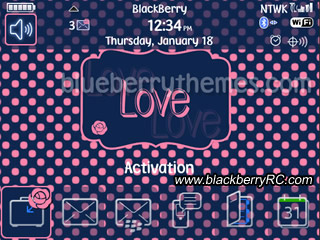 Love Pink Dots blackberry 9700 themes of 5 free d