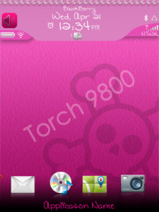 Juicy Girl OS 7 Theme for blackberry apps world d
