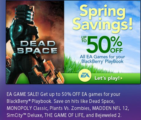 <b>EA Game Spring Savings Sale. Up to 50% Off on all</b>