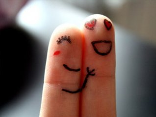 Finger Love pictures 480x320 wallpapers