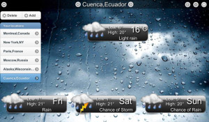 <b>Animated Weather HD v3.5.1 for BlackBerry PlayBoo</b>