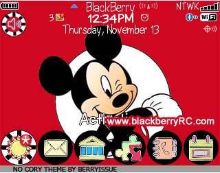 free Mickey Mouse for blackberry 8500,9300 themes