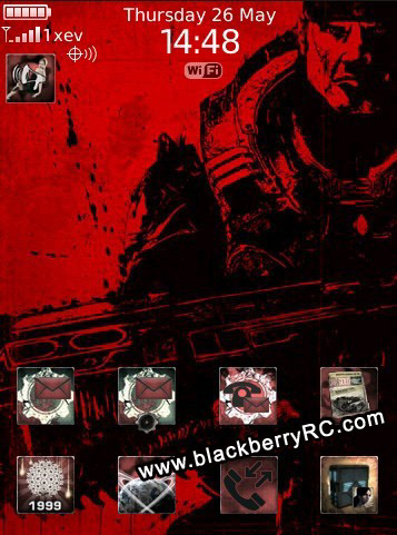 Gears of War Today theme for blackberry storm 95x