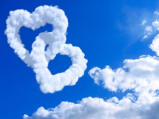 Cloud LOVE for blackberry bold wallpapers