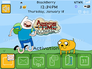 Adventure Time for blackberry bold 97xx,9650 themes