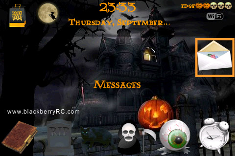 free Halloween v1.0 for blackberry 9000 themes os