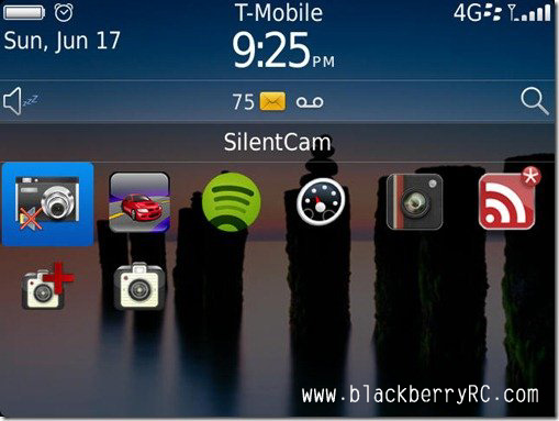 Silent Camera for blackberry software