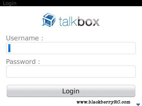 TalkBox v1.02 for blackberry apps