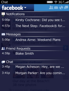 <b>Facebook Version 3.0.0.17 for BlackBerry applicat</b>