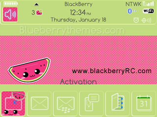Watermelon theme for blackberry 9000 bold themes