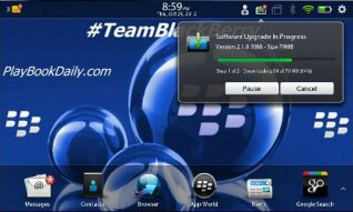 <b>BlackBerry PlayBook Software Updated to v2.1.0.10</b>