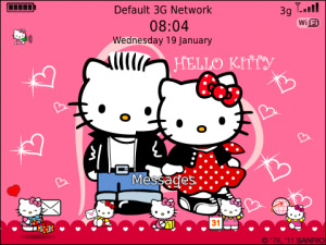 <b>Hello Kitty has date on Valentine's day Theme OS7</b>