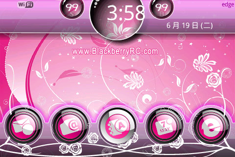 <b>Blossom pink theme for bold 9000 os4.6 themes</b>