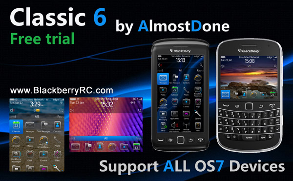 <b>Classic 6 for blackberry 9380 theme ( trial )</b>