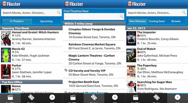 <b>Flixster for blackberry 10 mobile apps</b>