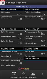 <b>Calendar Week View v1.0.0.1 for blackberry 10+ ap</b>